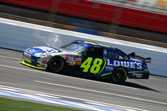 NASCAR - Johnson chez Lowes Image stock