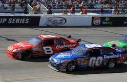 NASCAR - JR contra Reutimann Foto de archivo