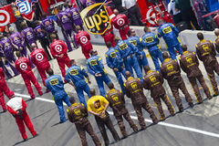 NASCAR: Jul 31 Brickyard 400. Indianapolis, IN - July 31, 2011: The NASCAR Sprint Cup Series teams take to the track for the 18th annual Brickyard 400 race at royalty free stock photography