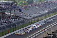 NASCAR: Jul 24 Combat Wounded Coalition 400. Speedway, IN - Jul 24, 2016: The NASCAR Sprint Cup Series race for the Combat Wounded Coalition 400 at the Royalty Free Stock Image