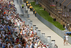 NASCAR:  July 25 Allstate 400 at the Brickyard. 25 July, 2009:  Fans try to catch a glimpse of their favorite drivers during qualifying at the Allstate 400 at Stock Image