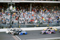 NASCAR: July 23 Brantley Gilbert Big Machine Brickyard 400. July 23, 2017 - Speedway, IN, USA: Brad Keselowski 2  leads the field during the Brantley Gilbert Big Royalty Free Stock Photos