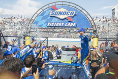 NASCAR: June 04 AAA 400. June 04, 2017 - Dover, DE, USA: Jimmie Johnson 48 wins the AAA 400 at Dover International Speedway in Dover, DE Stock Photo