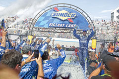 NASCAR: June 04 AAA 400. June 04, 2017 - Dover, DE, USA: Jimmie Johnson 48 wins the AAA 400 at Dover International Speedway in Dover, DE Royalty Free Stock Photography
