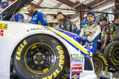NASCAR: June 22 TOYOTA/SAVE MART 350. June 22, 2018 - Sonoma, California , USA: Chase Elliott 9 gets ready to take to the track to practice for the TOYOTA/SAVE Royalty Free Stock Photos