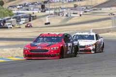 NASCAR: June 22 TOYOTA/SAVE MART 350. June 22, 2018 - Sonoma, California , USA: Cole Custer 51 Races through turn ten to practice for the TOYOTA/SAVE MART 350 at Stock Photo