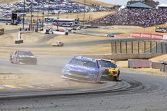 NASCAR: June 24 TOYOTA/SAVE MART 350. June 24, 2018 - Sonoma, California , USA: Ricky Stenhouse, Jr 17 Races through turn ten at the TOYOTA/SAVE MART 350 at Royalty Free Stock Photography