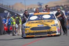 NASCAR: June 22 TOYOTA/SAVE MART 350. June 22, 2018 - Sonoma, California , USA: Trevor Bayne 6 Gets ready to practice for the TOYOTA/SAVE MART 350 at Sonoma Royalty Free Stock Images