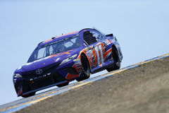NASCAR: June 23 Toyota/Save Mart 350. June 23, 2017 - Sonoma, CA, USA: Denny Hamlin 11 takes to the track to practice for the Toyota/Save Mart 350 at Sonoma Royalty Free Stock Photos