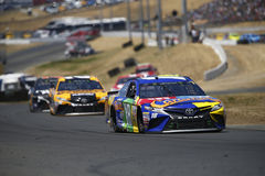 NASCAR: June 25 Toyota/Save Mart 350. June 25, 2017 - Sonoma, CA, USA: Kyle Busch 18 battles for position during the Toyota/Save Mart 350 at Sonoma Raceway in Stock Image