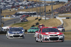 NASCAR: June 25 Toyota/Save Mart 350. June 25, 2017 - Sonoma, CA, USA: Kyle Larson 42 battles for position during the Toyota/Save Mart 350 at Sonoma Raceway in Stock Photos