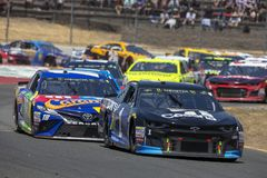 NASCAR: June 24 TOYOTA/SAVE MART 350. June 24, 2018 - Sonoma, California , USA: Jamie McMurray 1 races for the TOYOTA/SAVE MART 350 at Sonoma Raceway in Sonoma Royalty Free Stock Photography