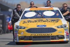 NASCAR: June 22 TOYOTA/SAVE MART 350. June 22, 2018 - Sonoma, California , USA: Trevor Bayne 6 Gets ready to practice for the TOYOTA/SAVE MART 350 at Sonoma Royalty Free Stock Image