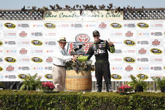 NASCAR: Juni 22 Toyota - räddningmarknad 350 Royaltyfri Fotografi