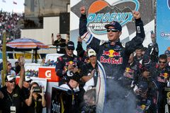 NASCAR:  Kasey Kahne in Victory Lane Stock Photography