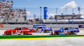 NASCAR Keselowski Leads the Pack in 3! Stock Images
