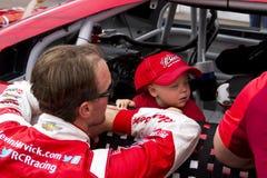 NASCAR Kevin Harvick at Phoenix International Raceway. Kevin Harvick and his son, Keelan Royalty Free Stock Photography