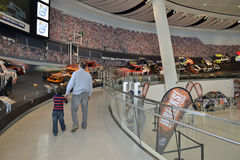 NASCAR-korridor av berömmelsemuseet Arkivfoton