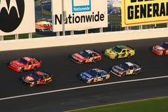 NASCAR - Kurve 3 an LMS Stockbilder