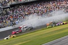 NASCAR: Kyle Larson wrecks at daytona Stock Photos