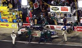 NASCAR - L'équipage du Jr de vallée dans l'action Photos libres de droits