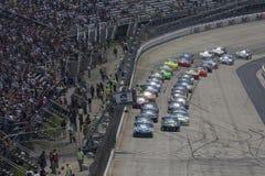NASCAR : L'autisme de bénéfice du 15 mai Federal Express 400 parle Images stock