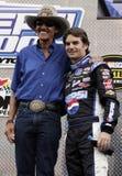 NASCAR legendy Richard Drobny i Jeff Gordon fotografia royalty free