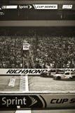 NASCAR - Ligne d'arrivée de début de Richmond Images libres de droits