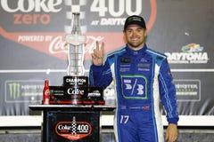 NASCAR: Lipa 01 kola Zero 400 zwycięzców Fotografia Royalty Free