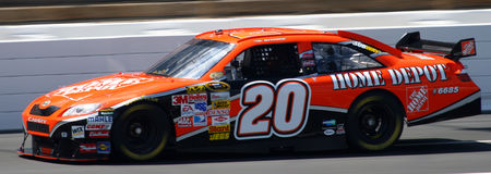 NASCAR - LIT DE CAMP du #20 Home Depot de Stewart Photo libre de droits