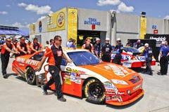 NASCAR - Logano's Car In the Garae Area Pre Race Stock Photos
