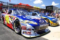 NASCAR - Machines et équipes de championnat Photographie stock libre de droits