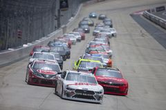 NASCAR: Maj 04 f?rbundna st?lbyggnader 200 arkivbilder