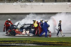 NASCAR: Maj 12 KC mästerverk 400 Royaltyfri Fotografi