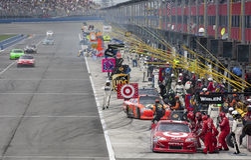 NASCAR:  Mar 27 Auto Club 400 Royalty Free Stock Images