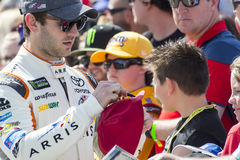 NASCAR:  Mar 12 Kobalt 400. March 12, 2017 - Las Vegas, Nevada, USA:  Daniel Suarez 19 signs autographs for fans before the Kobalt 400 at Las Vegas Motor Stock Images