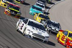 NASCAR: Mar 09 Las Vegas Motor Speedway. Las Vegas , NV - Mar 09, 2014: Brad Keselowski (2) battles for position during the Kobalt Tools 400 race at the Las stock image