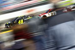 NASCAR: March 26 STP 500. March 26, 2018 - Martinsville, Virginia, USA: Jimmie Johnson 48 brings his car through the turns during the STP 500 at Martinsville stock images