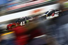 NASCAR: March 26 STP 500. March 26, 2018 - Martinsville, Virginia, USA: Kurt Busch 41 brings his car through the turns during the STP 500 at Martinsville royalty free stock photography