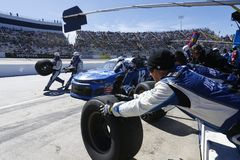NASCAR: March 26 STP 500. March 26, 2018 - Martinsville, Virginia, USA: Kyle Larson 42 brings his car down pit road for service during the STP 500 at royalty free stock photos