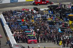 NASCAR: March 26 STP 500. March 26, 2018 - Martinsville, Virginia, USA: The Monster Energy NASCAR Cup Series teams take to the track for the STP 500 at stock photography