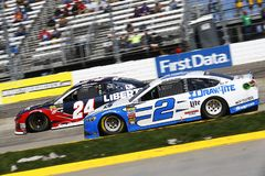 NASCAR: March 26 STP 500. March 26, 2018 - Martinsville, Virginia, USA: William Byron 24 and Brad Keselowski 2 battle for position during the STP 500 at royalty free stock image
