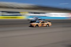 NASCAR: March 10 Ticket Guardian 500. March 10, 2019 - Avondale, Arizona, USA: Corey LaJoie 32 battles for position for the Ticket Guardian 500 at ISM Raceway in royalty free stock photos