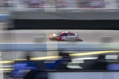 NASCAR: March 10 Ticket Guardian 500. March 10, 2019 - Avondale, Arizona, USA: Kyle Busch (18) battles for position for the Ticket Guardian 500 at ISM Raceway in stock photo