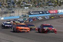 NASCAR: March 10 Ticket Guardian 500. March 10, 2019 - Avondale, Arizona, USA: Kyle Busch (18) races down off the turn during the Ticket Guardian 500 at ISM stock image