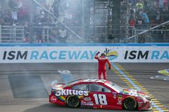 NASCAR: March 10 Ticket Guardian 500. March 10, 2019 - Avondale, Arizona, USA: Kyle Busch 18 wins the Ticket Guardian 500 at ISM Raceway in Avondale, Arizona stock photos