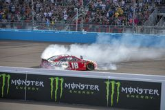 NASCAR: March 10 Ticket Guardian 500. March 10, 2019 - Avondale, Arizona, USA: Kyle Busch 18 wins the Ticket Guardian 500 at ISM Raceway in Avondale, Arizona royalty free stock photo