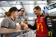 NASCAR: March 09 Ticket Guardian 500. March 09, 2019 - Avondale, Arizona, USA: Kyle Larson (42) gets ready to practice for the Ticket Guardian 500 at ISM Raceway stock photo