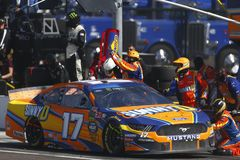 NASCAR: March 10 Ticket Guardian 500. March 10, 2019 - Avondale, Arizona, USA: Ricky Stenhouse, Jr 17 makes a pit stop during the Ticket Guardian 500 at ISM royalty free stock image