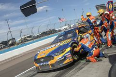 NASCAR: March 10 Ticket Guardian 500. March 10, 2019 - Avondale, Arizona, USA: Ricky Stenhouse, Jr 17 races through the pits at the Ticket Guardian 500 at ISM royalty free stock images